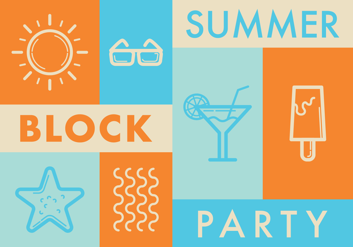 vector summer block party